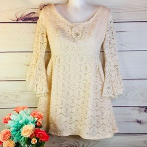 Vintage Rare 60s Union Made Lace Mini Dress ILGWU